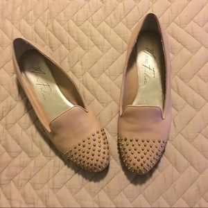 Marc Fisher Nude Studded Flats